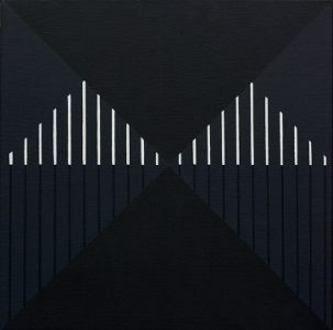 christian eder-white lines on black cavas-bilder-2012