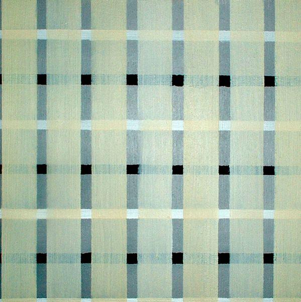 Raster, 2004#Christian Eder#Öl auf Leinwand, 30 x 30 cm