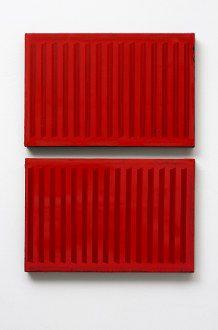 Vertikale in Rot