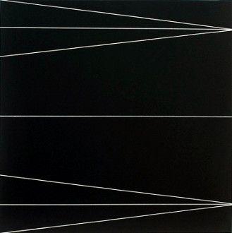 white lines on black ground-eder-art-abstraction