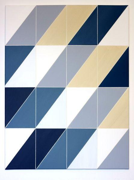 Vertikal-Diagonal, 2015#Acryl auf Leinwand#80 x 80 cm