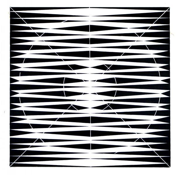 work in space-black circle in black square-eder-paintings