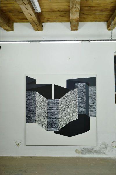 Linien- Flächen- Konstellation-painting