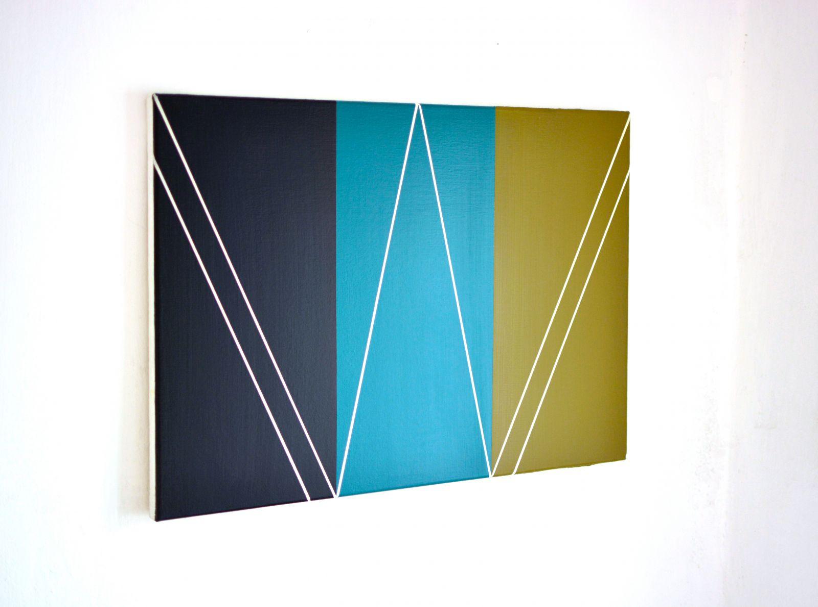 Illmitz-Lineatur vor drei Farbfeldern