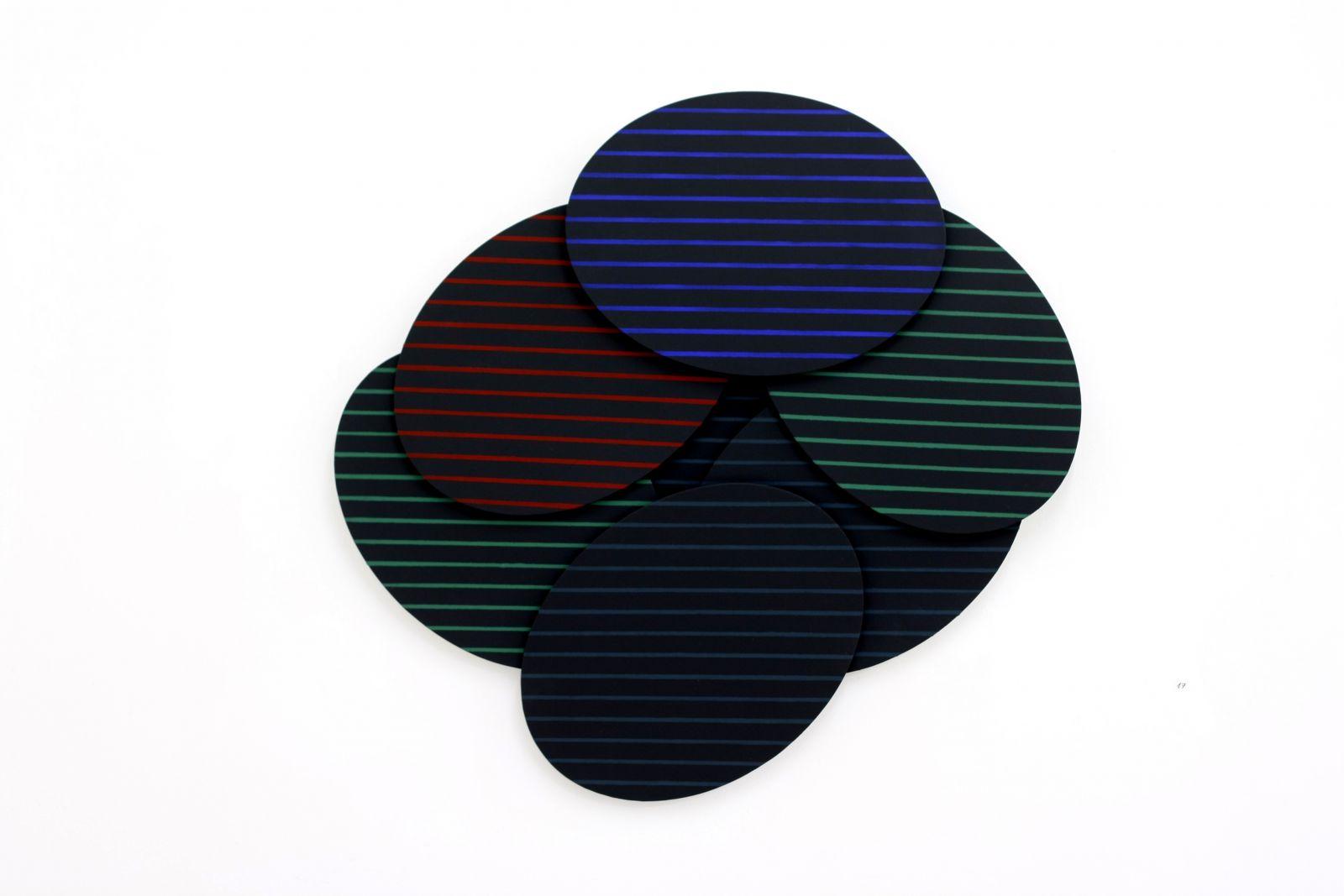 Ovalformation, Acryl auf Leinwand/ Karton, 80 x 80 cm, Christian Eder